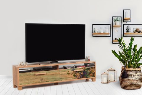 Bruce TV Unit 160 cm, Forest Green