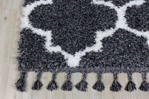 Marrakesh Scandi Rug, Anthracite Grey (Large)