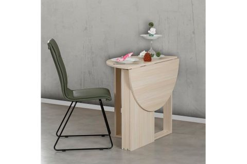 Pasific 2-4 Seat Middle Extendable Dining Table, Light Wood