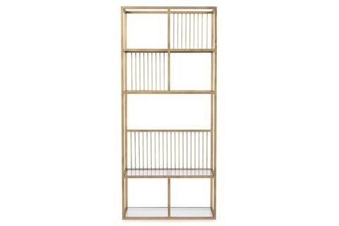 Lola Narrow Brass Bookcase