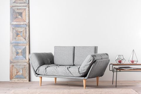 Futon Nina Two Seater Sofa Bed, Grey