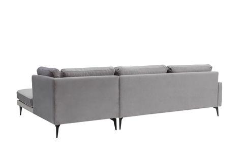 Matilda Corner Chaise Sofa, Right, Dark Grey