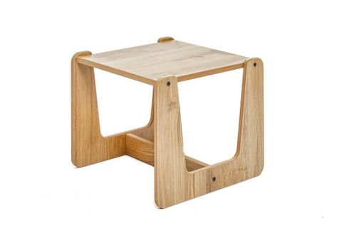 Eidos Side Table, 25 x 30 cm, Natural Wood