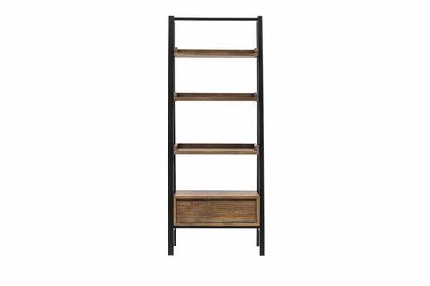 Matis Bookshelf, Dark Wood & Black