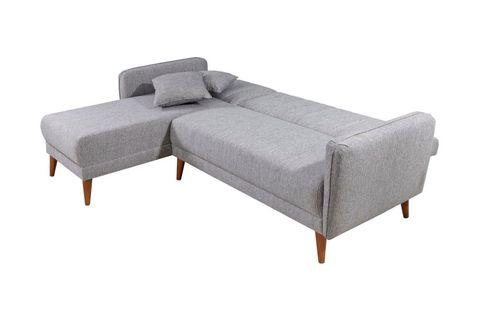 Aqua Corner Chaise Sofa Bed, Left, Grey