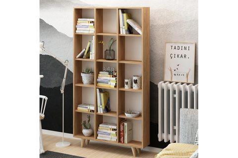 Es Mob Zipa Bookshelf, Oak