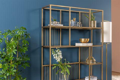 Lola Bookcase, Brass