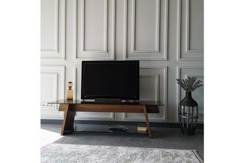 Neostyle Solid Wood TV, Dark Wood, 158 cm