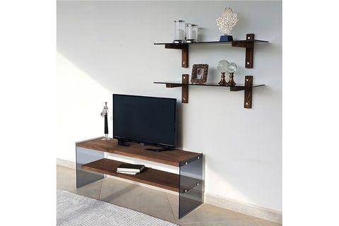 Neostyle TV Stand, Dark Wood, 120 cm
