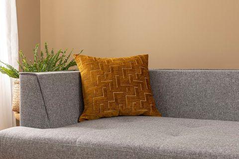 Githa Cushion Cover, 45x45 cm, Mustard