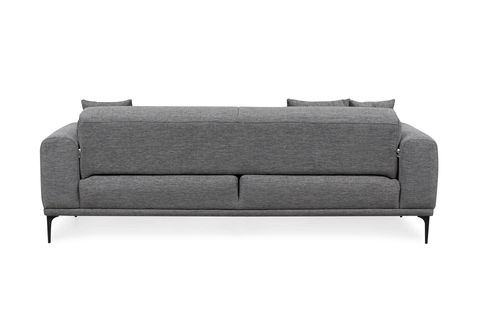 Softy Three Seater Sofa Bed, Grey