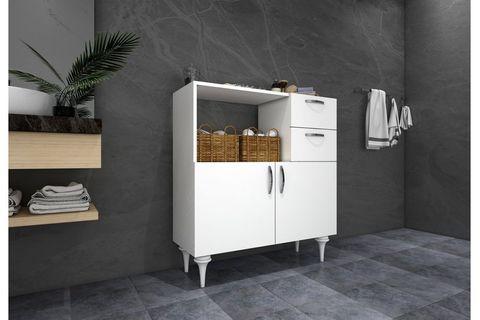 Marvic Multipurpose Bathroom Cabinet, White