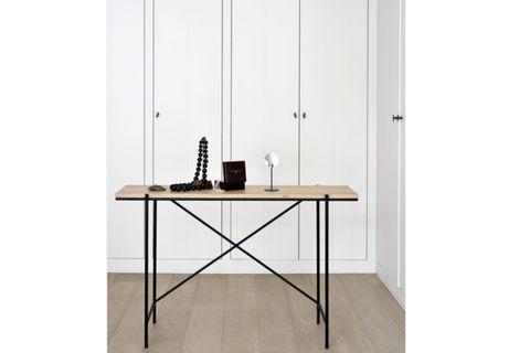 Alva Console Table, 120 cm, Light Wood & Black