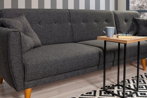 Aria Corner Sofa Bed, Anthracite Grey (Right)