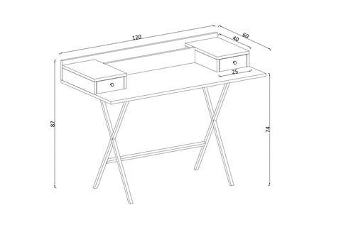 Sera Fiya Study Table (White)