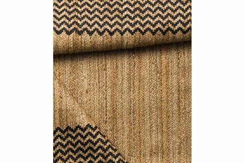 Rosa Block Print Jute rug, 120 x 180, Natural