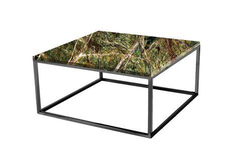 Veldi Marble Coffee Table Zelena, Green Marble & Black