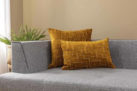Githa Cushion Cover, 30x50 cm, Mustard