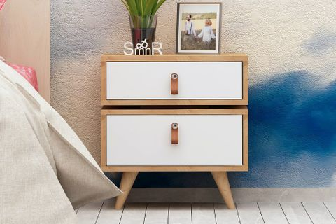 Es Mob Adriana Bedside Table, White