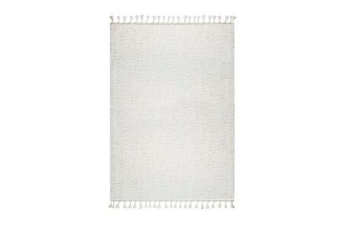 Marrakesh Shaggy Rug, White (Medium)
