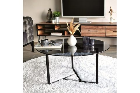 Trio Tempered Smoked Glass Coffee Table