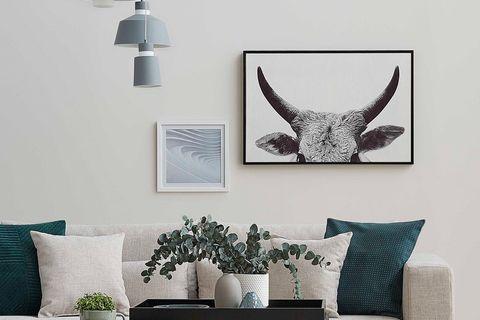 Horns Art Print with Frame