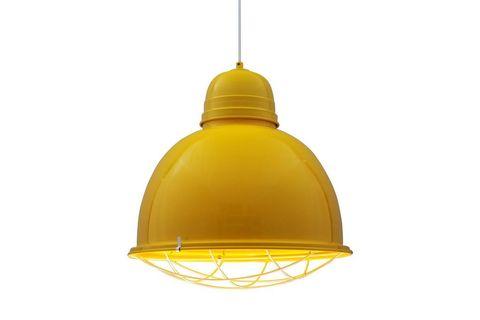 Ollie Retro Pendant, Yellow