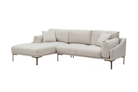 Leo Corner Chaise Sofa, Left, Ecru
