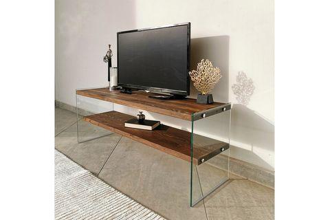 Neostyle Solid Wood TV, Dark Wood, 120 cm
