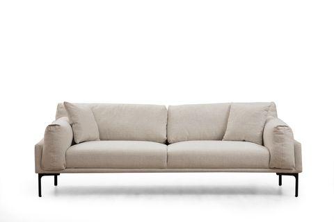 Leo Two Seater Sofa, Ecru & Black
