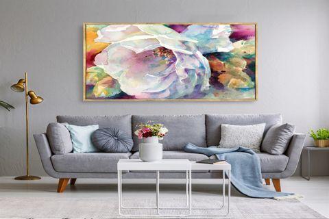 TABLOLİFE POPPY FLOWER YAĞLI BOYA DOKULU TABLO 60X90 CM