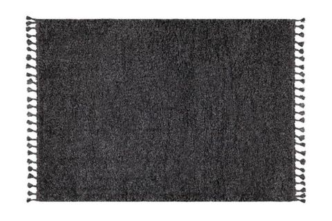 Marrakesh Shaggy Rug, Anthracite Grey (Medium)