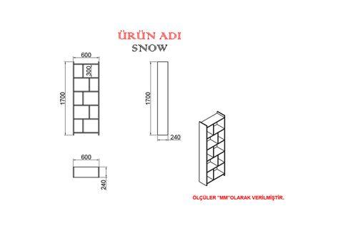 KALENDER DEKOR JİMMY SNOW 145 CM ÇALIŞMA MASASI TAKIMI JMS04