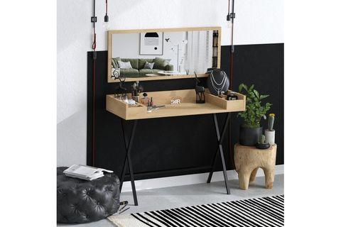 Sera Joy Dressing Table, Light Wood
