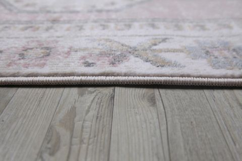 Aurora Traditional Antique Rug, 200 x 290, Grey & Pink