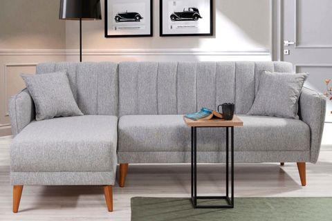 Aqua Corner Sofa Bed, Grey (Left)