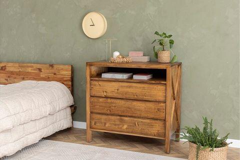Matis Bedside Table, Dark Wood