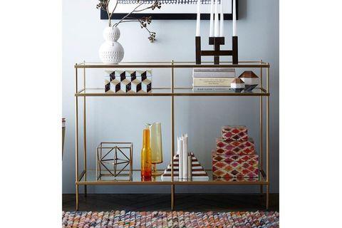 Castle Console Table, 100 cm, Brass