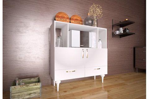 Dux Multipurpose Kitchen Cabinet, White