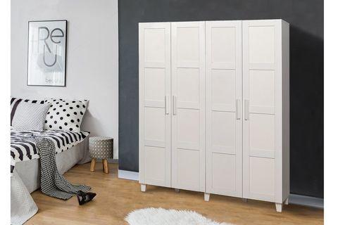 Victoria 4 Door Wardrobe, White