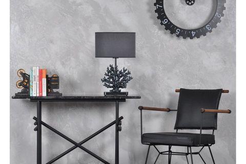 Coral Table Lamp, Dark Grey