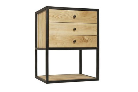 Trior Wood Bedside Table, Light Wood