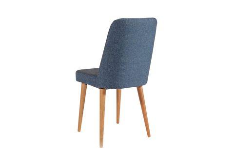 Vina Dining Chair, Dark Blue & Oak