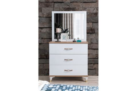 Tulip Chest Of Drawers And Mirror