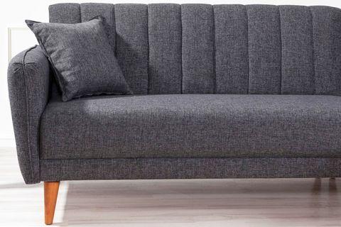 Aqua Corner Chaise Sofa Bed, Right, Charcoal