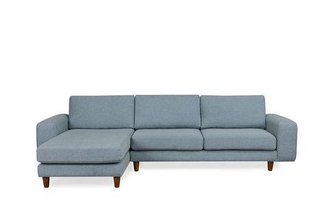 Merlin Corner Chaise Sofa, Left, Blue
