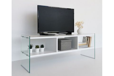 Neostyle TV Stand, White, 122 cm