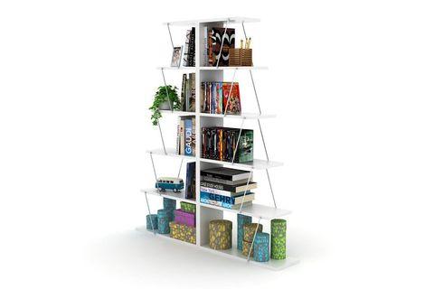 Rafevi Bookcase, White & Chrome