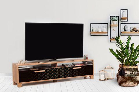 Bruce TV Unit 160 cm, Black