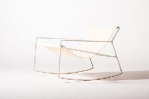 Sohomanje Leather Rocking Chair, White